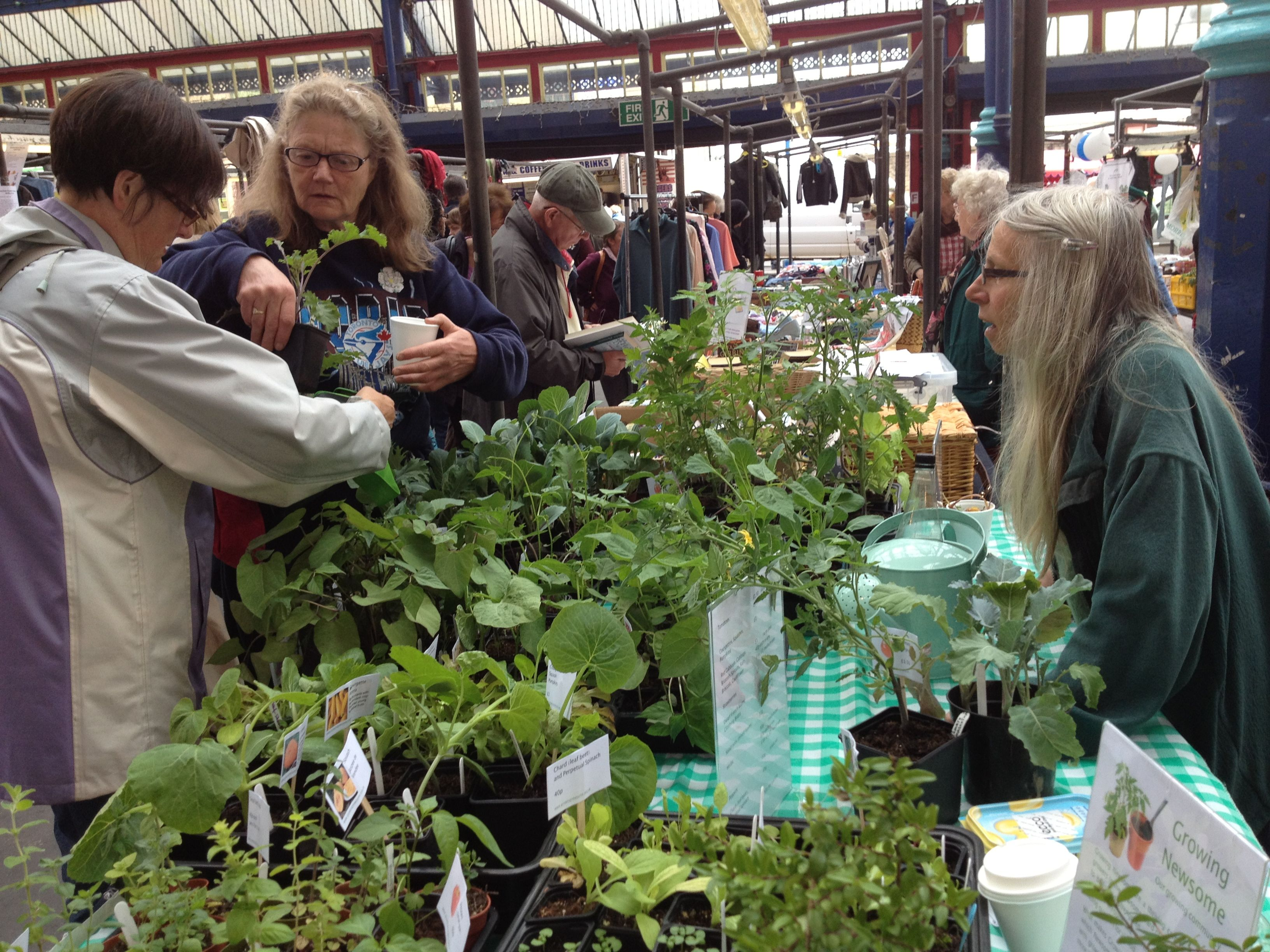 Growing Newsome market stall