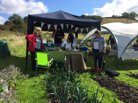 Stall at Stirley Farm open day