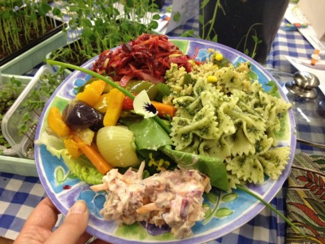 plant swap salad lunch