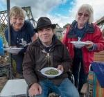 Carole, Simon Gregson and Pat