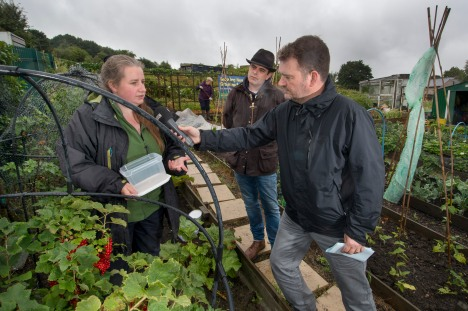 Radio Leeds at our allotment