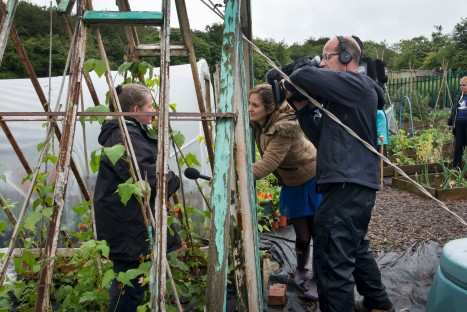 ITV Calendar filming at our allotment